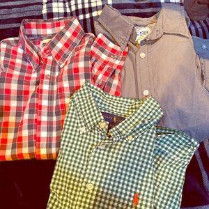 Three Youth Boys Button Down Shirts